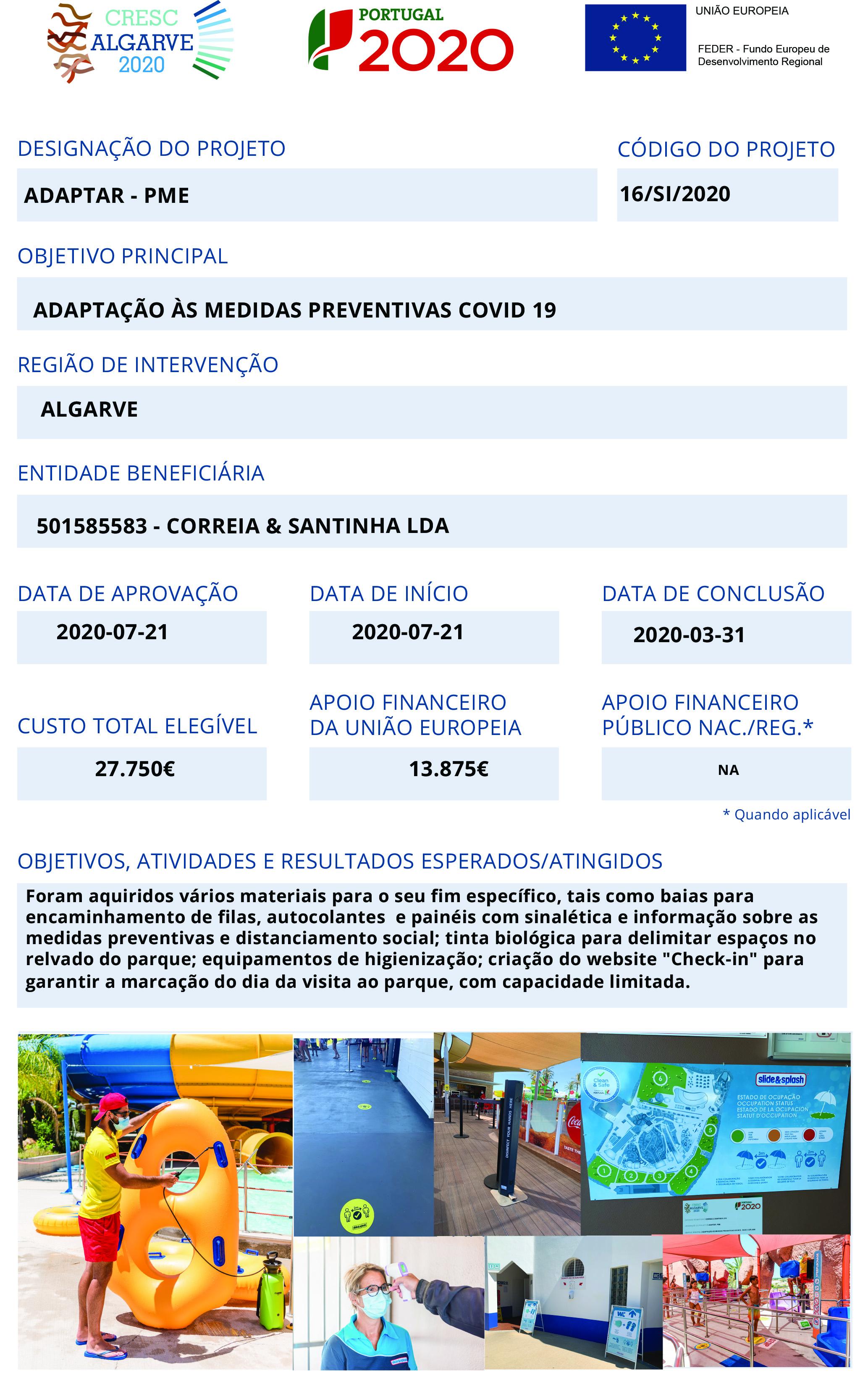 Ficha Projecto FEDER